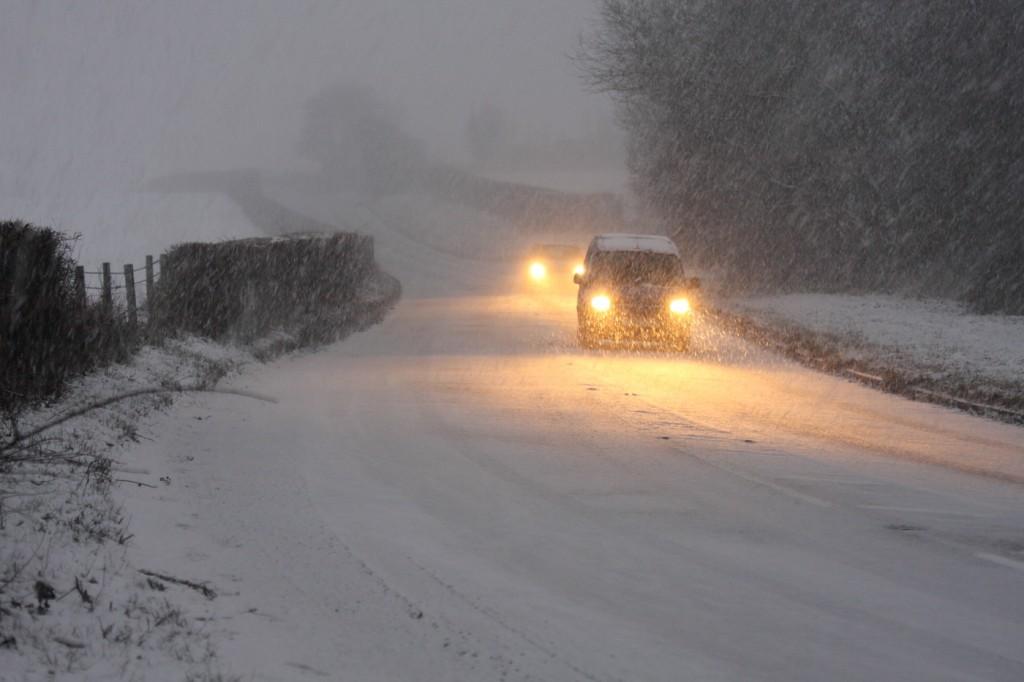 Snow in Halstead, UK
