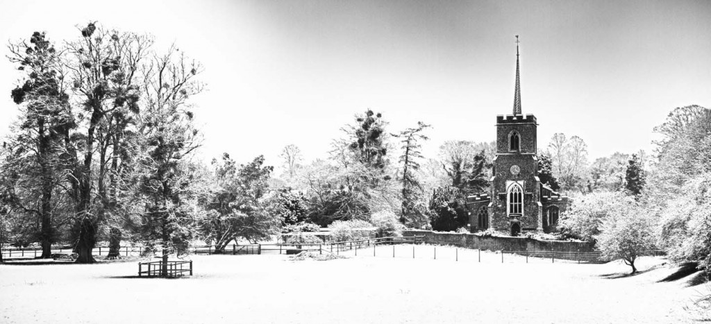 Much Hadham in the snow